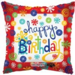 "BIRTHDAY SWIRLS BALLOON  18""  19462-18"